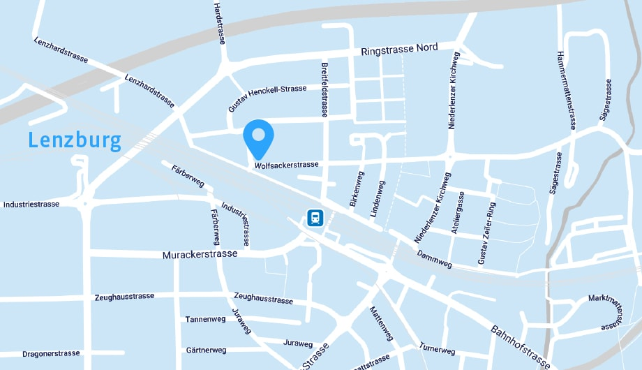 Karte Lenzburg