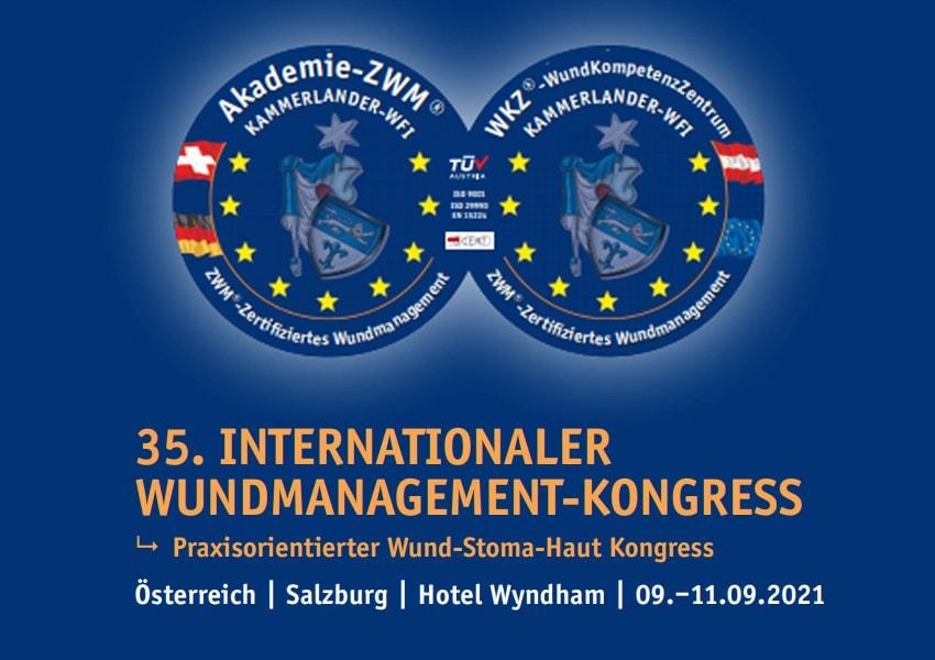 35. Internationaler Wundmanagement Kongress in Salszburg vom 9.-11.9.2021